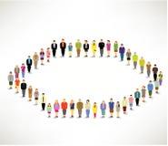 En stor grupp människorhopsamling tillsammans Royaltyfri Foto