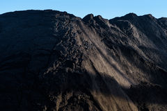 En stor hög av kol Royaltyfri Foto