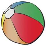En stor hurtfrisk strandboll Arkivbild