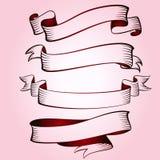 En stor uppsättning av festliga band stock illustrationer