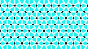 En storartad bakgrund för sexhörnigt och formade stjärnor grupperar att bestå av cyan svartvit färg, geometrisk modell för abstra Arkivbild