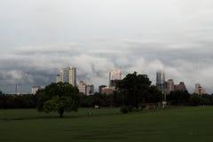 En stormig Austin Texas horisont, Maj 2015 Arkivfoto