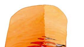 En ström av mycket härligt orange vätskeliknande till sockersirap eller lemonad faller på skärmen Skjutit i ultrarapid arkivfilmer