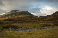 En ström i högländerna av Skottland arkivfoto