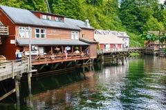 En Straat die van de Kreek van Alaska dineren de winkelen Royalty-vrije Stock Foto