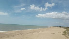 En strand Fotografering för Bildbyråer