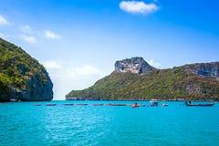 En strand av Angthong Marine National Park Arkivfoto