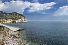 En strand av Mattinata - Gargano Fotografering för Bildbyråer