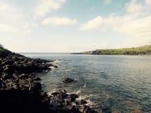 En strand i Galapagos öar Royaltyfria Bilder
