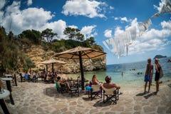 En strand i Zakynthos, Grekland Arkivbilder