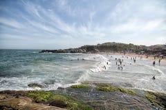 En stranddag Arkivfoton