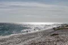 En stranddag Fotografering för Bildbyråer