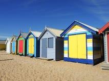 En strandkoja på den Brighton stranden, Melbourne Victoria Royaltyfria Foton