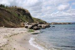 En strandkust Arkivbild