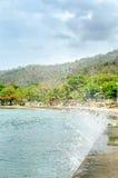En strandpromenadfärgstänk Royaltyfri Foto
