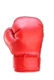 En studio sköt av en röd boxninghandske Arkivbild