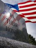 En su honor para el servicio a nuestro país Fotos de archivo libres de regalías