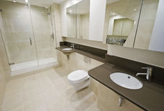 En-suite bathroom Stock Photos