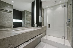 En-suite bathroom royalty free stock photos