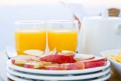 En sund frukost för två Royaltyfria Bilder