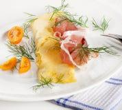 En sund frukost. Omelett. Royaltyfria Foton