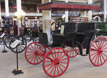 En Surrey vagn på Texas Cowboy Hall av berömmelse Arkivfoto