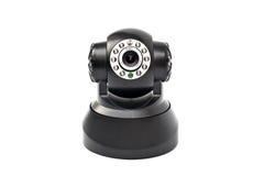 En svart kamera  Royaltyfri Fotografi