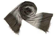 En svart- och grå färgscarf arkivbilder