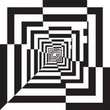 En svartvit lättnadstunnel. Royaltyfri Fotografi