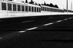 En svartvit stads- modell som uttrycker tomhet royaltyfria foton