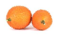 En sydostlig asiatisk frukt, vet gemensamt som Gac arkivbilder
