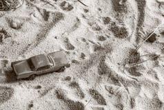 En tävlings- bil på spåret fotografering för bildbyråer