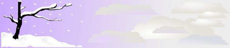 En-tête 2, vecteur de neige de zen Image stock