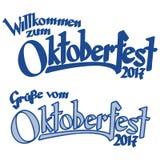 En-tête avec le texte Oktoberfest 2017 Image stock