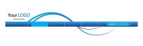 En-tête bleu de Web illustration stock