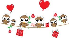 en-tête d'amour de joyeux anniversaire Image stock