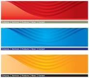 En-tête de page Web Images stock