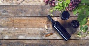 En-tête de vin rouge Image stock