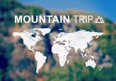 En-tête de voyage de montagne Photographie stock libre de droits