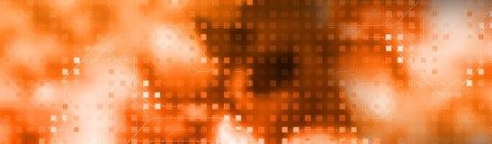 En-tête de Web de technologie illustration de vecteur