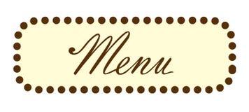 En-tête des textes de Word de menu Images libres de droits