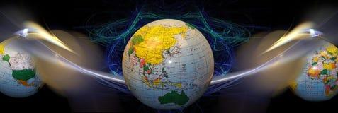 En-tête/drapeau : Connexions internationales Image libre de droits