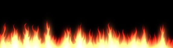 En-tête/drapeau de Web d'incendie illustration libre de droits