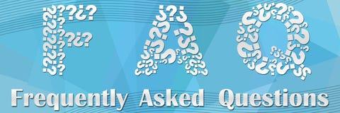 En-tête et texte de FAQ Photos stock