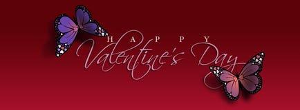 En-tête heureux de papillon de jour du ` s de Valentine Photo libre de droits