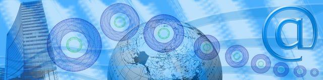 En-tête : Internet, commerce électronique et connexions Photos libres de droits