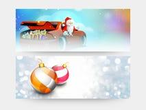 En-tête ou bannière de Web pour la célébration de Noël Image stock