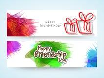 En-tête ou bannière de Web pour le jour d'amitié Photo libre de droits