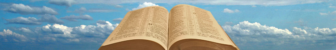 En-tête ou titre de bas de page de bible Photographie stock libre de droits
