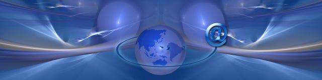 En-tête : Planète bleue de transmission illustration de vecteur
